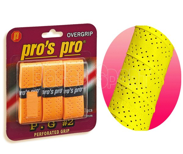 Pro's Pro Perforated fedőgrip 3 db, narancs