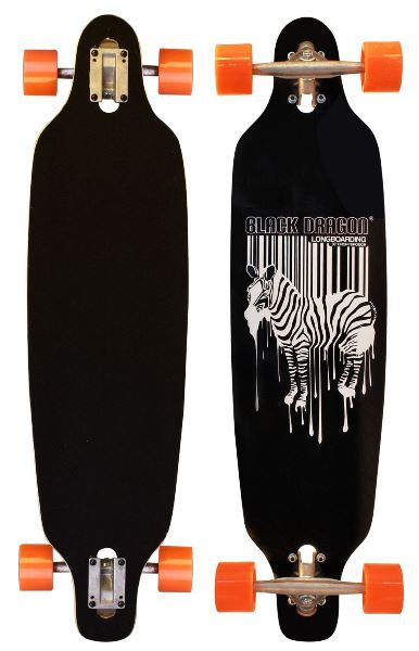 Black Dragon Jungle Fever longboard, fekete