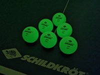 Donic GLOW IN THE DARK Poly 40+ ping-pong labda, 6 db