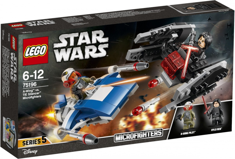 LEGO Star Wars - A-szárnyú vs. TIE Silencer Microfighters