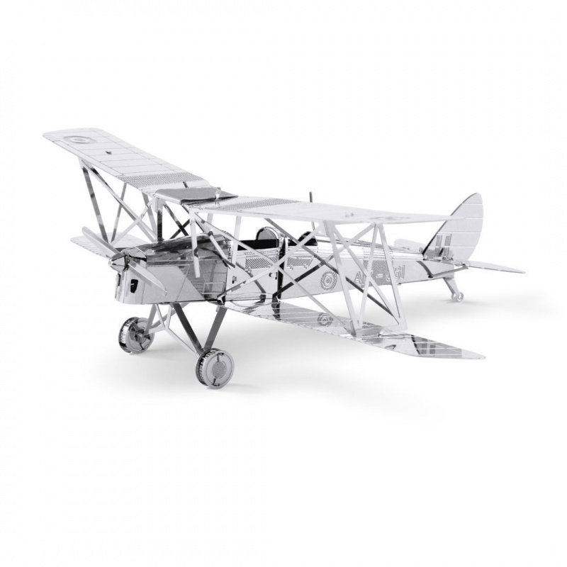Metal Earth de Havilland DH 82 Tiger Moth repülőgép