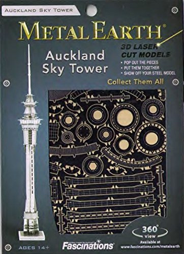 Metal Earth Auckland Sky Tower torony