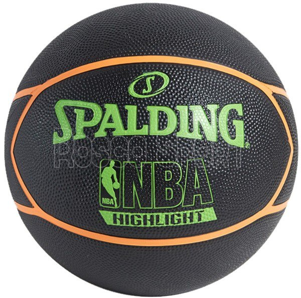 Spalding NBA Highlight Black-Neon Green kosárlabda